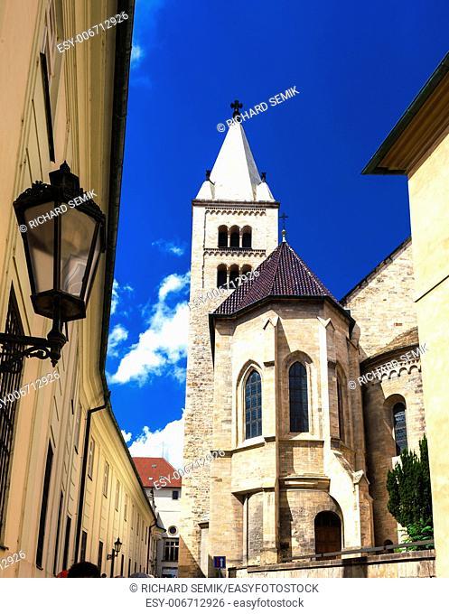 Basilica and monastery of Saint George in Prague Castle, Czech Republic