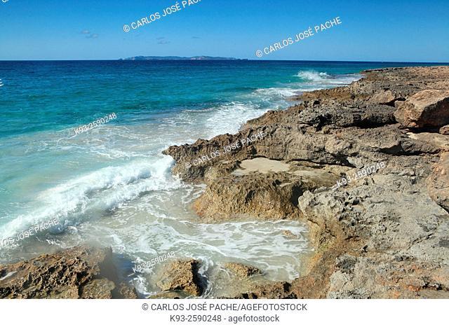 Ses Salines coastline, Majorca, Balearic Islands, Spain
