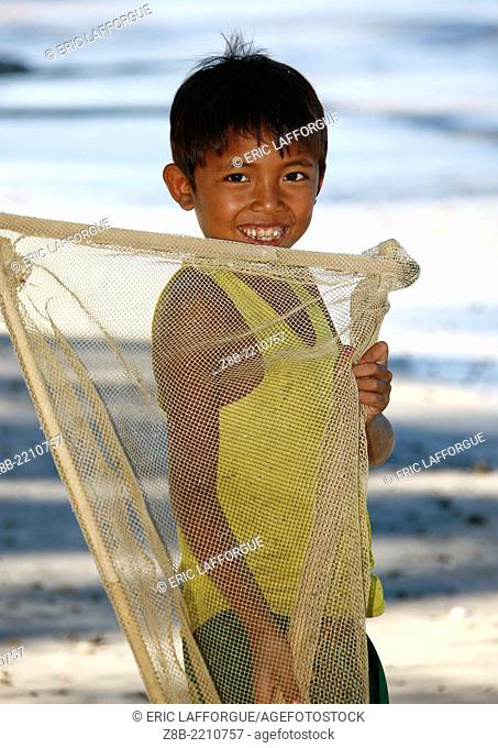 Ngapali Beach is one of the most beautiful beach in Myanmar, on the Bay of Bengal, lot of fishermen still work in the place, drying fishes on the sand