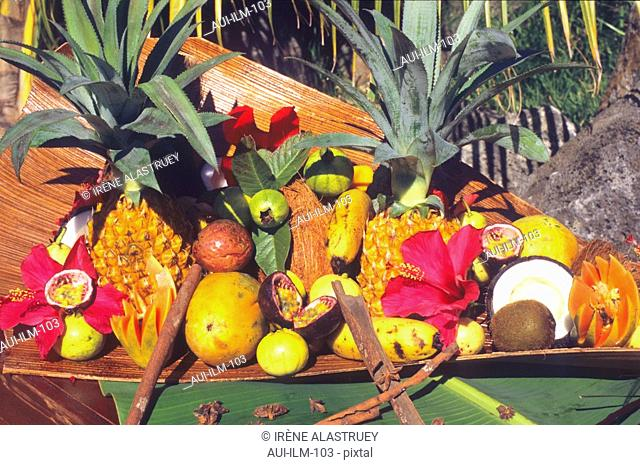 Mauritius - Exotic Fruits display