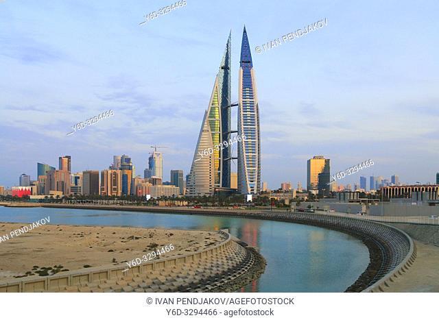 Manama at Sunset, Bahrain
