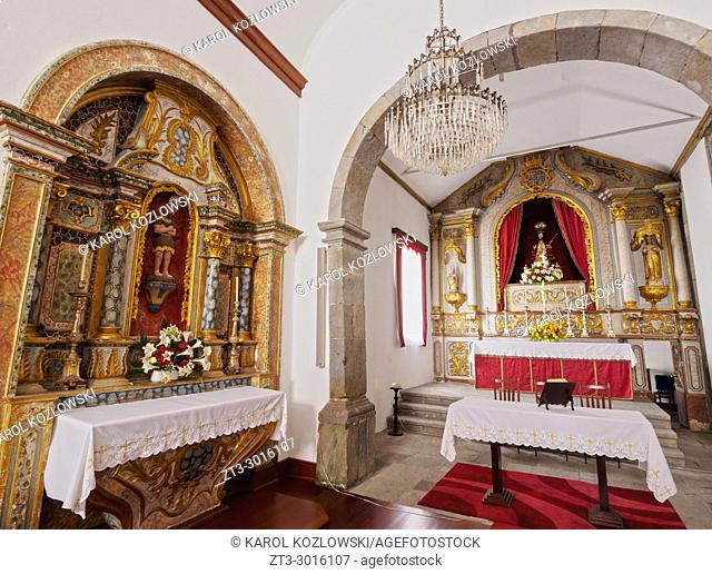 Church of Santo Cristo, interior, Graciosa Island, Azores, Portugal
