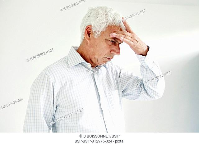 ELDERLY PERSON WITH HEADACHE