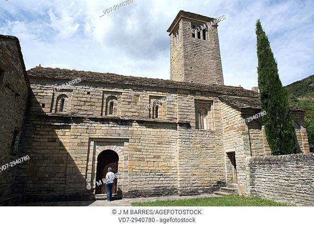 San Pedro de Larrede mozarabic or romanesque church. Sabinanigo municipality, Sobrarbe, Huesca province, Aragon, Spain