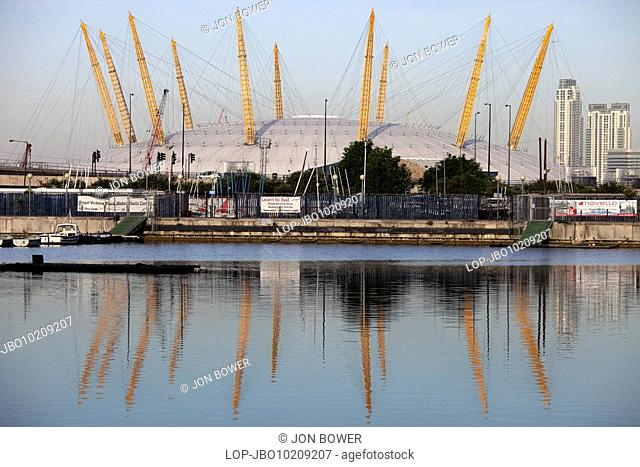 England, London, Docklands, The O2 formerly known as the Millennium Dome on the Greenwich peninsula in South East London