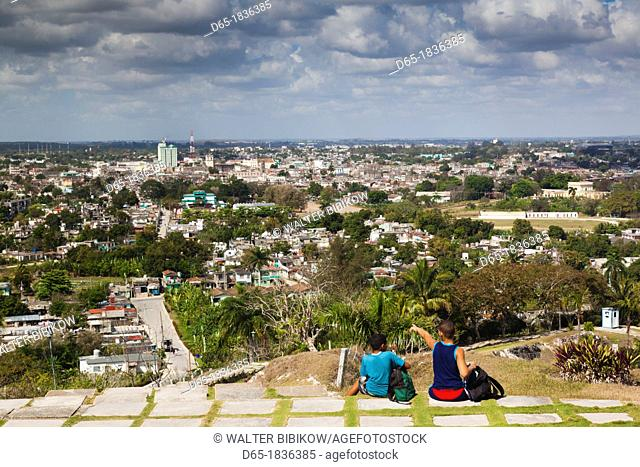 Cuba, Santa Clara Province, Santa Clara, elevated city view from the Lomo de Caparo, NR