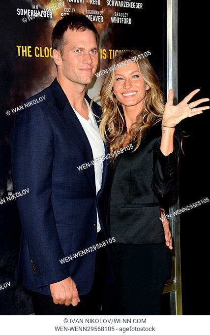 Gisele bundchen and tom brady where Stock Photos and Images | age