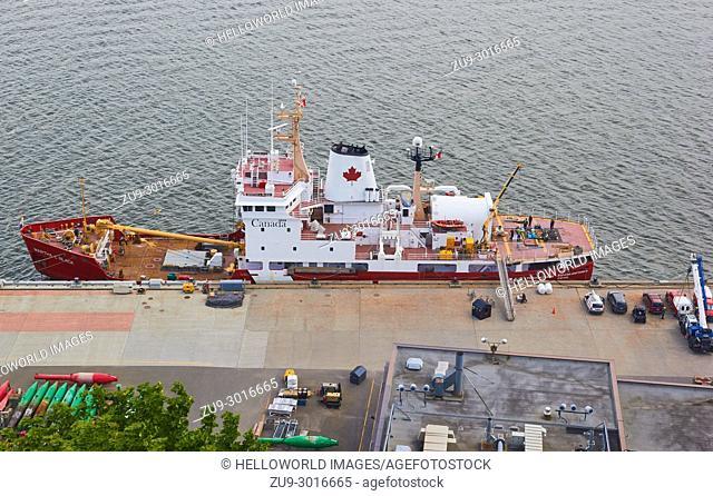 CCGS Martha L Black a light icebreaker and buoy tender, Canadian Coast Guard, Quebec City, Quebec Province, Canada. . Named after Canadian politician