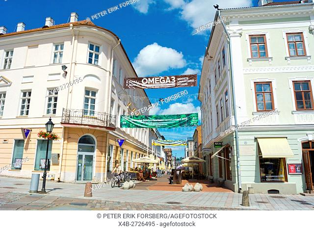 Raekoja plats, town hall square, at Rüütli street, Tartu, Estonia, Baltic States, Europe