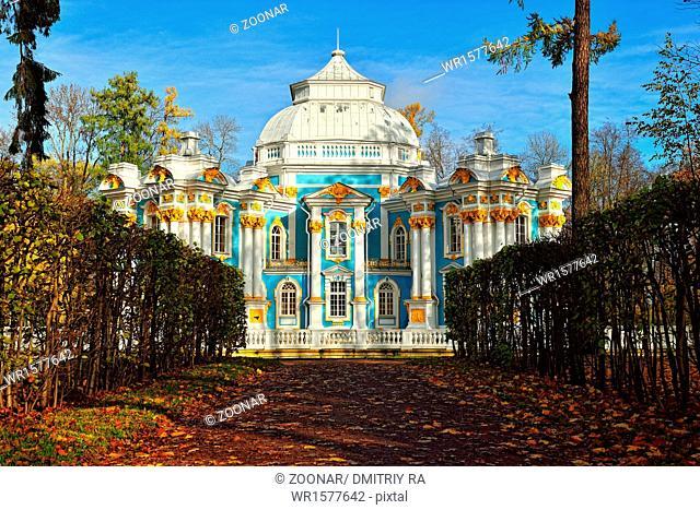 The Hermitage pavilion in Catherine park in Pushkin