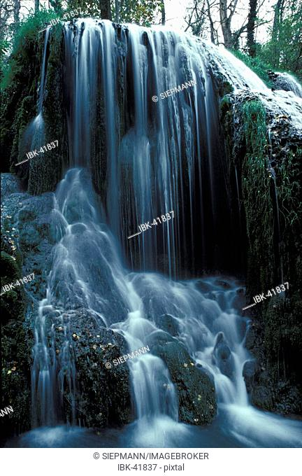 Waterfall in Monasterio de Piedra - Aragon - Spain
