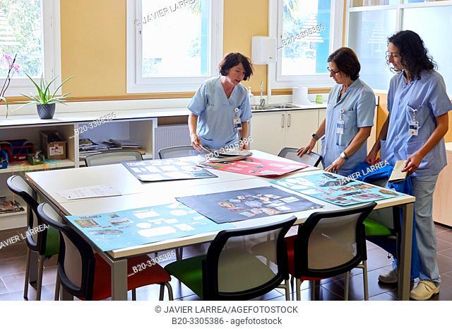 Classroom of feeding, Psychiatry, Hospital Donostia, San Sebastian, Gipuzkoa, Basque Country, Spain