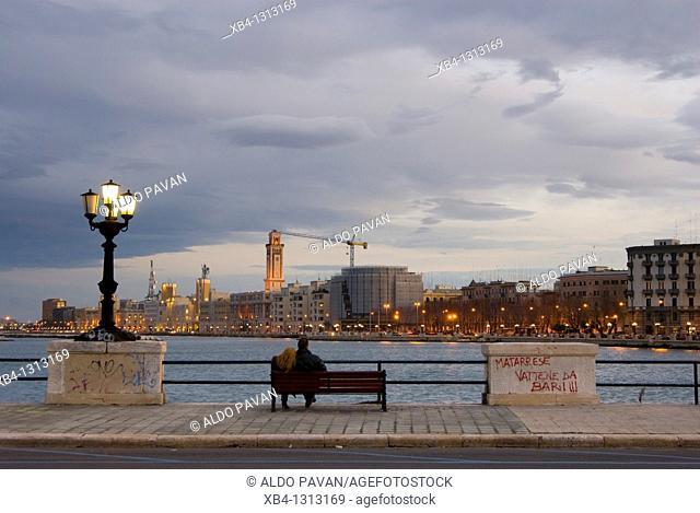 Italy, Bari, seafront