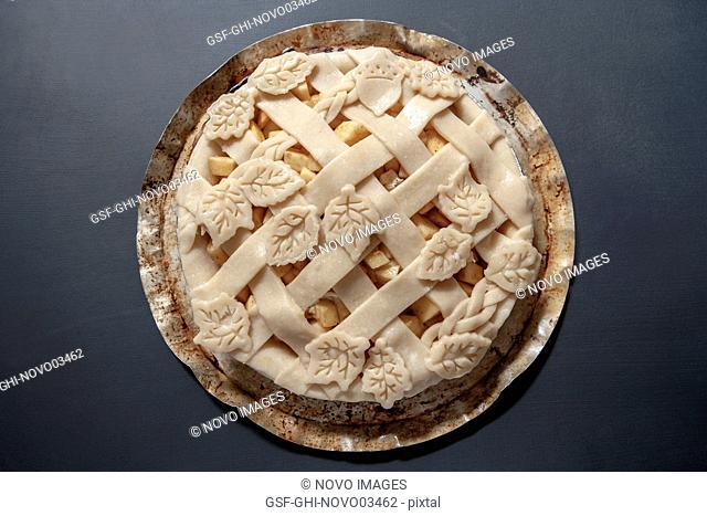 Apple Pie, High Angle View
