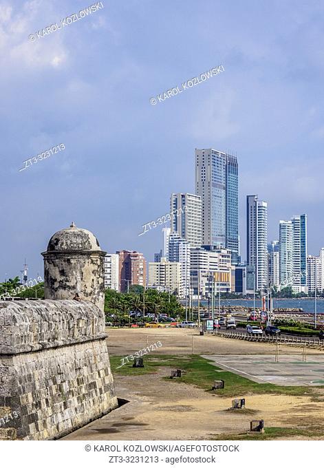 Old Town Walls, Cartagena, Bolivar Department, Colombia