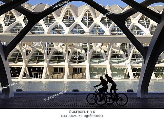 Príncipe Felipe Science Museum City of sciences and arts by architect Santiago Calatrava