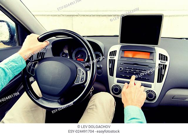 Businessman digital tablet car Stock Photos and Images | age