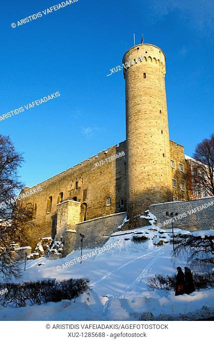 Toompea castle  Christmas in Tallin Estonia