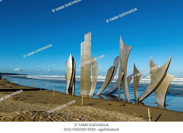 Omaha Beach, Memorial, Les Braves,Collevilles Sur Mer, Normandy, France