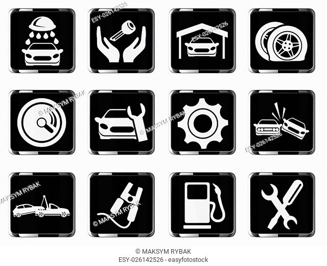 Auto Service simply symbol for web icons and user interface