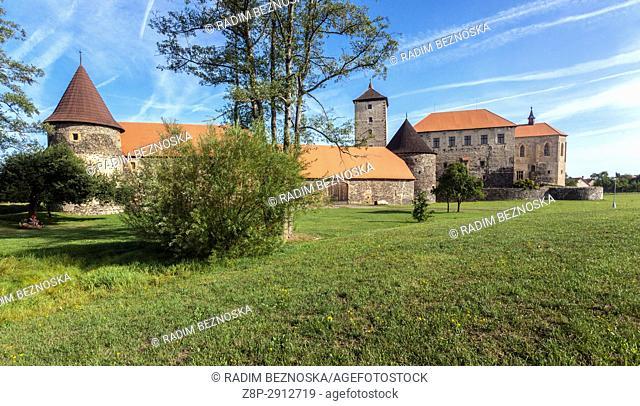 Svihov caste is medieval water castle, Czech Republic, Europe