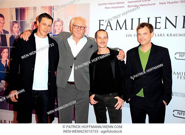 Premiere of 'Familienfest' at Filmtheater am Friedrichshain movie theater. Featuring: Marc Hosemann, Guenther Maria Halmer, Barnaby Metschurat