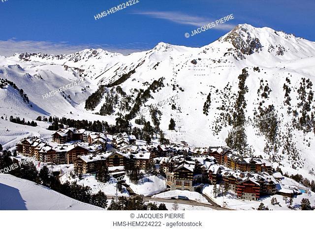 France, Savoie, Les Arcs 1950, Bois de l'Ours Chair Lift, l'Arpette Alt : 2413 m
