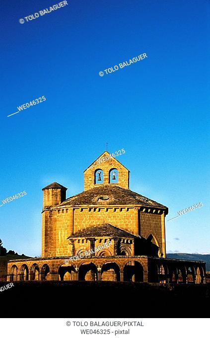 Romanesque church of Santa María de Eunate, XIIth century. Muruzabal, Navarre. Spain