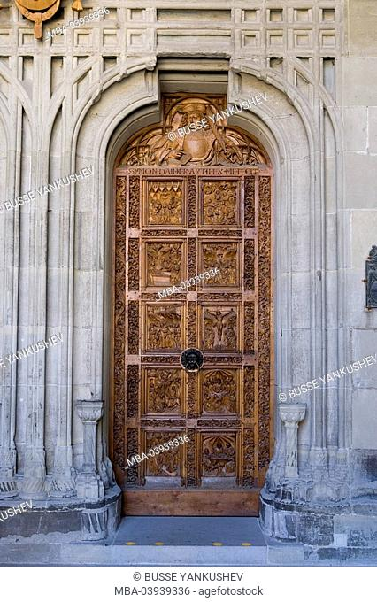 Germany, Baden-Württemberg, Lake Constance, Constance, Minster Unserer Lieben Frau, west-portal, entrance