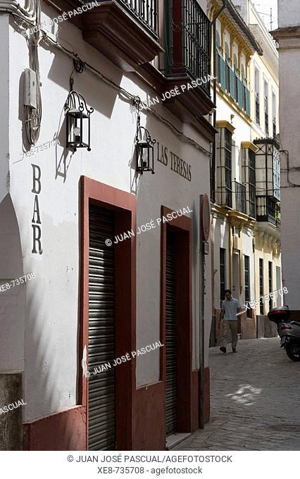 Las Teresas bar, Santa Cruz district, Sevilla. Andalucia, Spain