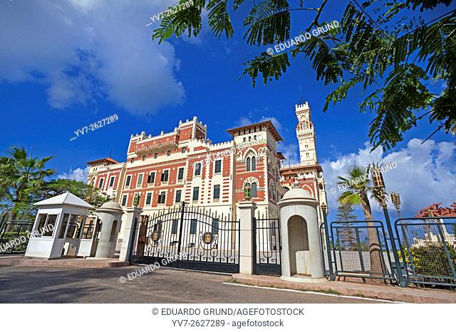 Montazah palace in Alexandria. Egypt