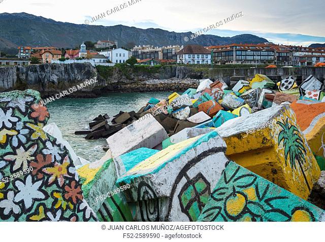 'Los Cubos de la Memoria', Llanes town, Llanes Council, Asturias, Spain, Europe