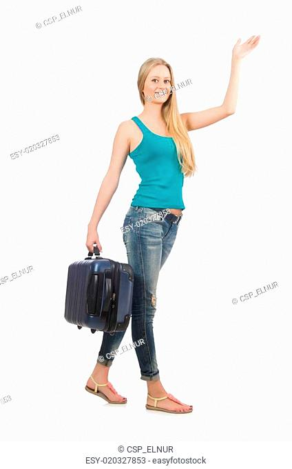 Travelling tourism concept isolated on white