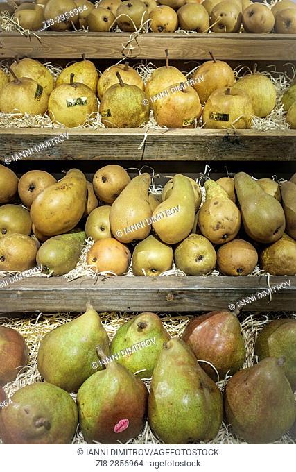 Organic pears on sale