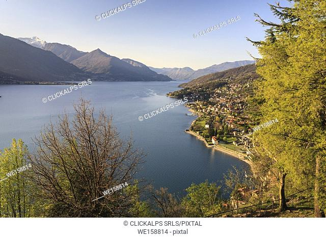 Landscape on the Como lake. Lombardy, Italy, province of Como