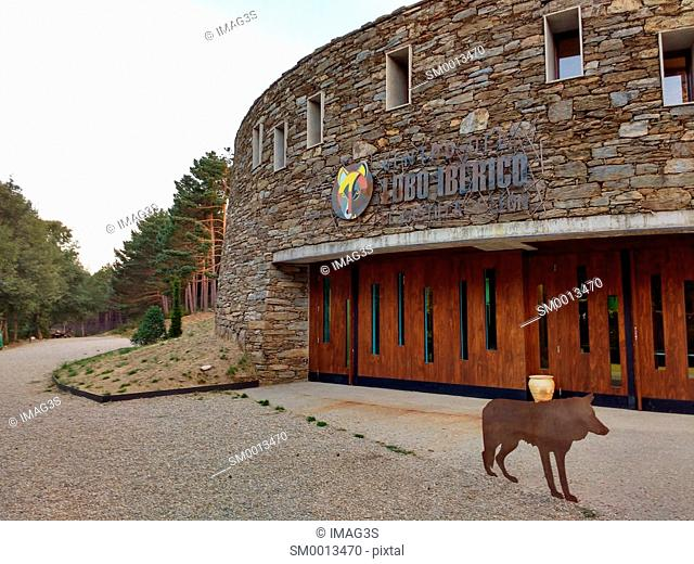 Centro del Lobo Ibérico (Canis lupus signatus) museum, Robledo de Sanabria, Zamora, Spain
