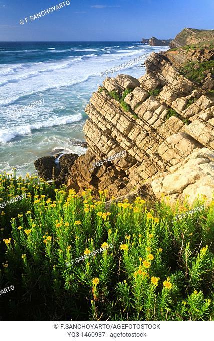 Costa Quebrada cliffs, Piélagos, Cantabria, Spain