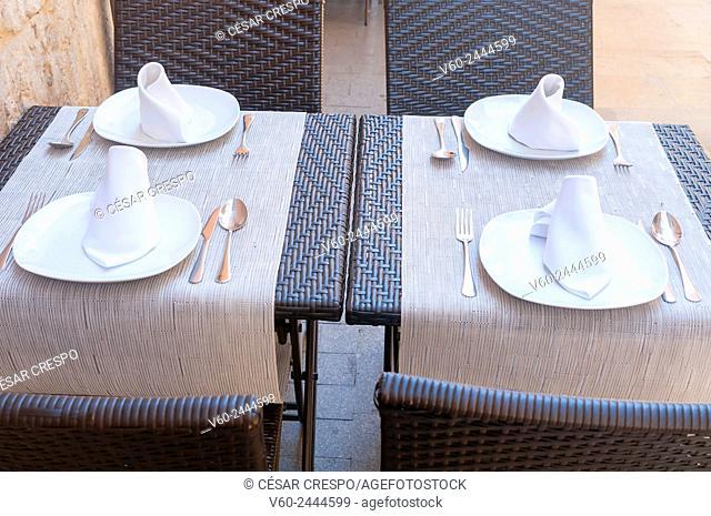 Table sets, Alicante, Comunidad Valenciana, Spain