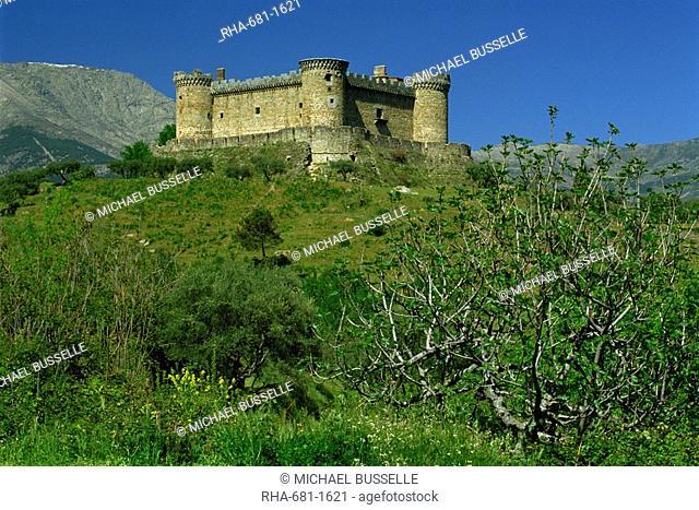 Castle of Mombeltran, Avila, Castilla Leon, Spain, Europe