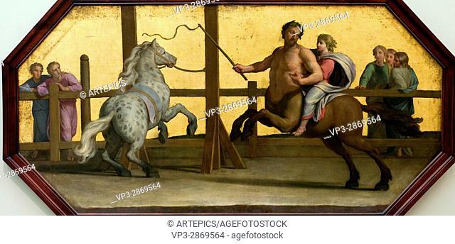Jean-Baptiste de Champaigne. L'Education d'Achille : La leçon d'équitation
