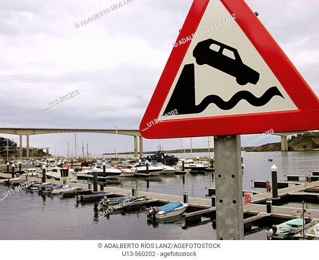 Ria Del Eo River Mouth Ribadeo Lugo Galicia Spain