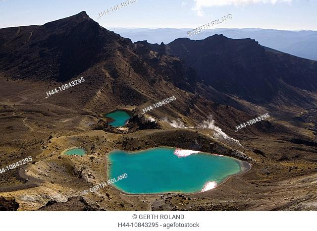 New Zealand, Emerald Lakes, Tongariro, national park, North island, Mount Tongariro, UNESCO, World heritage site, Geol