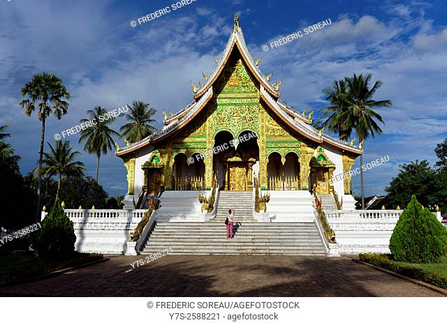 Buddhist temple at Haw Kham (Royal Palace) complex in Luang Prabang, Laos, South East Asia