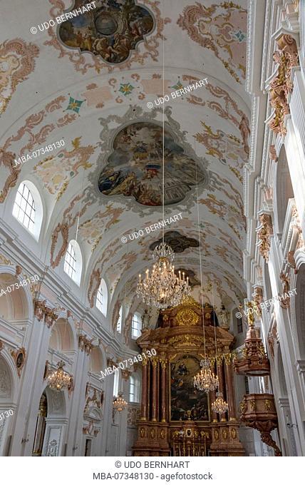 In the Jesuit Church, Lucerne, Lake Lucerne, Canton Lucerne, Switzerland
