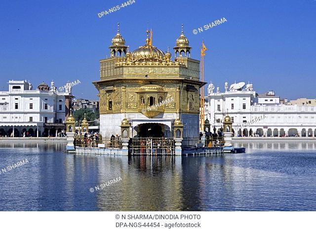 Golden temple holiest sikh shrine , Amritsar , Punjab , India