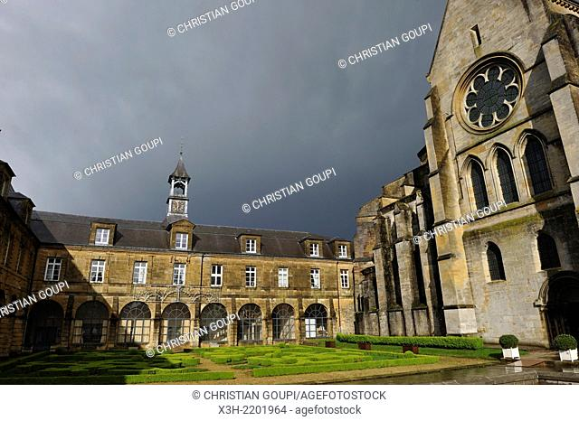 abbey adjoining the church of Mouzon, Ardennes department, Champagne-Ardenne region of northeasthern France, Europe