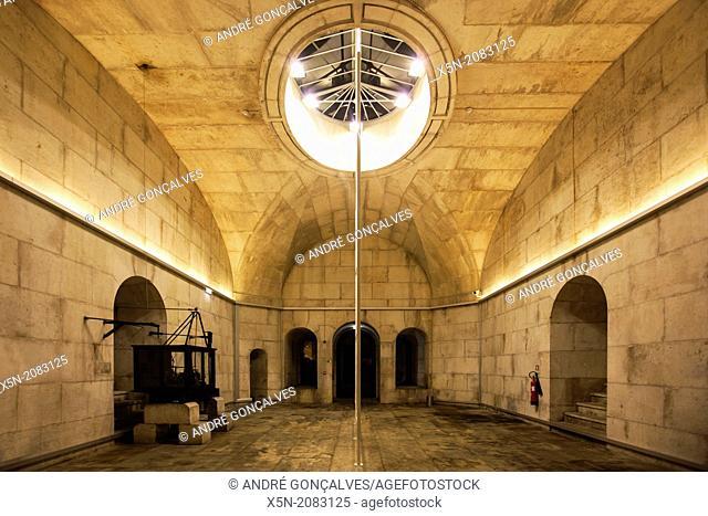 Interior of the Arco da Rua Augusta, Lisbon, Portugal, Europe