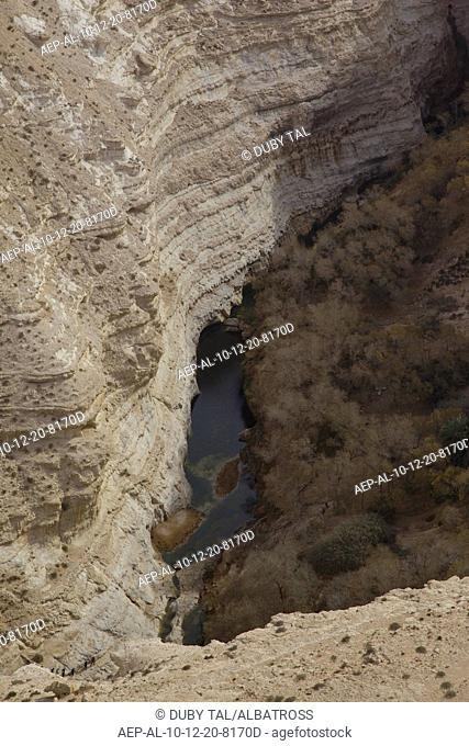 An aerial view of Ein Ovdat