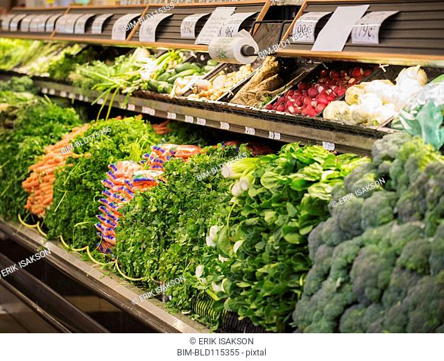 Produce for sale in grocery store