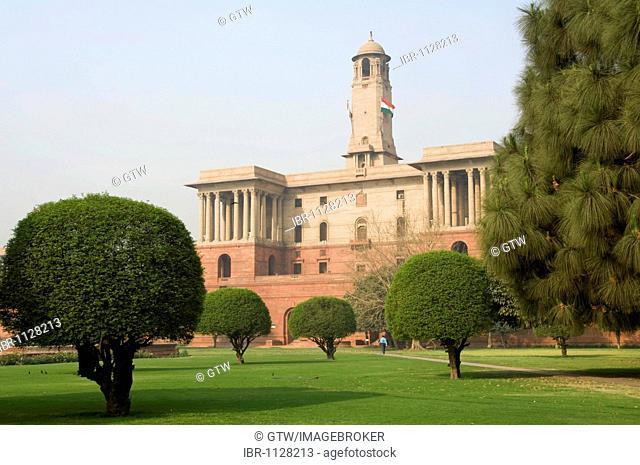 North Block of the Indian Government buildings, Raisina Hill, Delhi, India